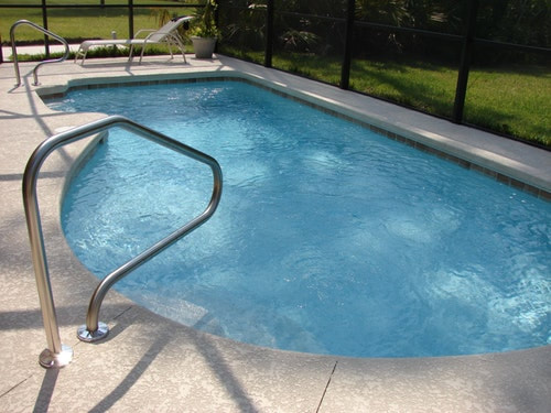 small oval shaped pool